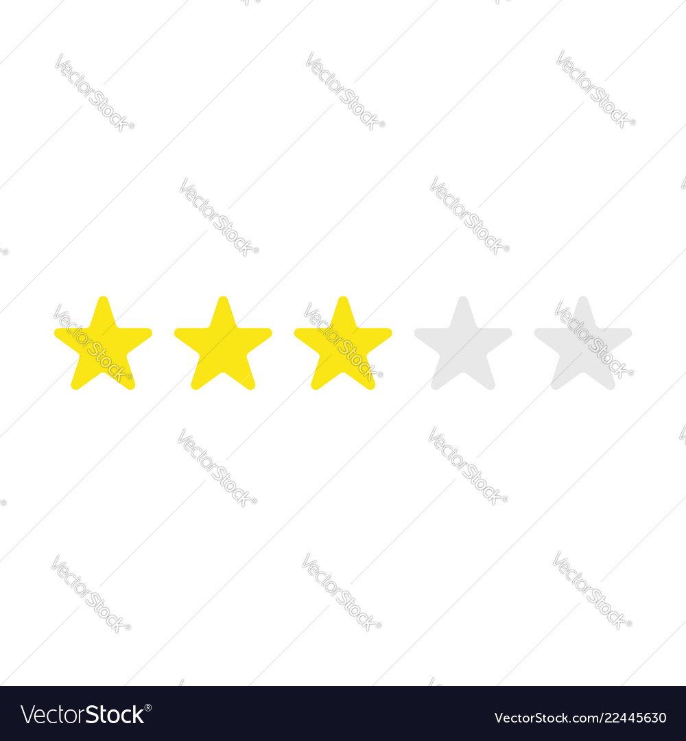 Icon concept of three yellow stars