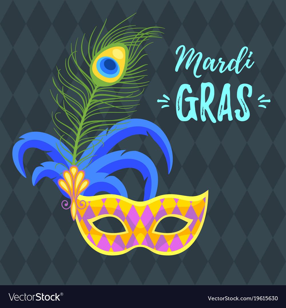 Mardi gras greeting card royalty free vector image mardi gras greeting card vector image m4hsunfo