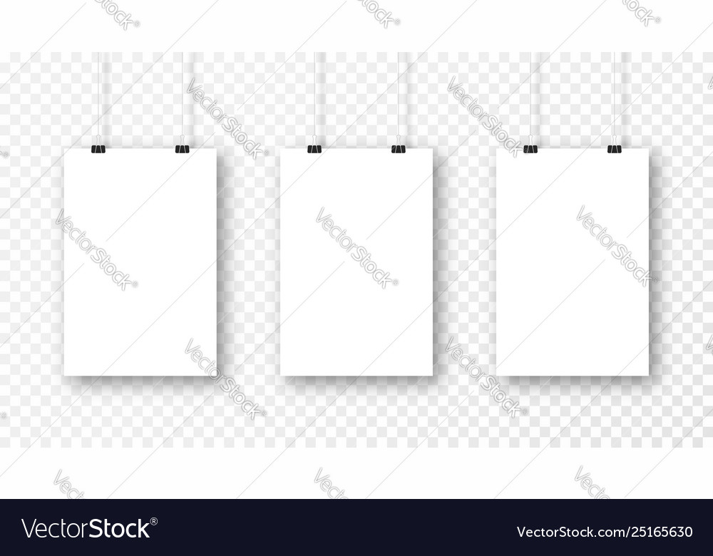 Poster mockup isolated on transparent background