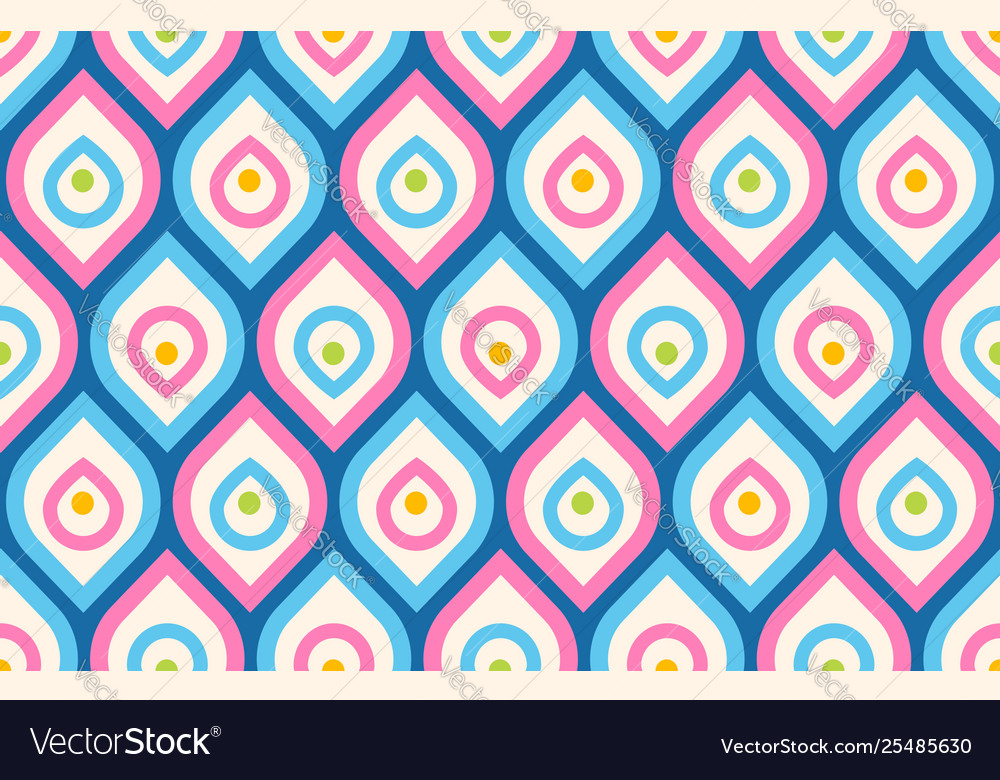 Retro pattern in 60s style