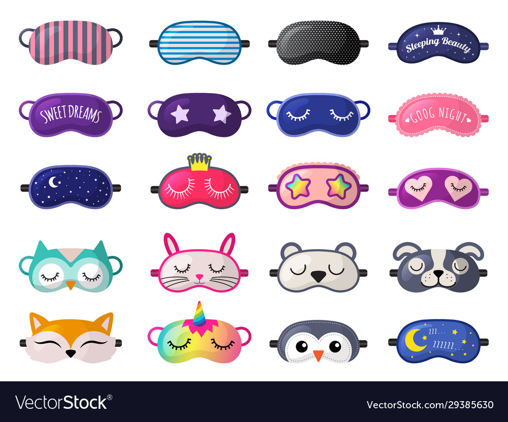 Sleeping mask funny clothes for sleepover rest