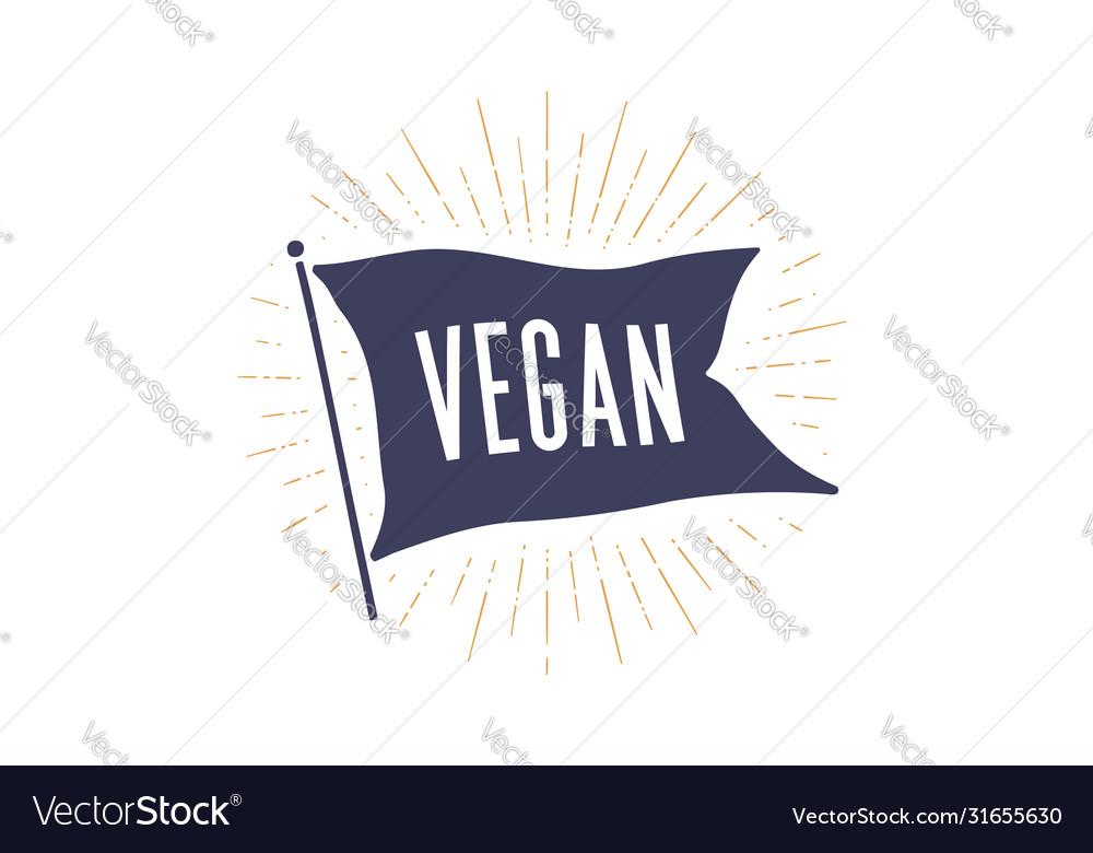 Vegan flag graphic old vintage trendy flag