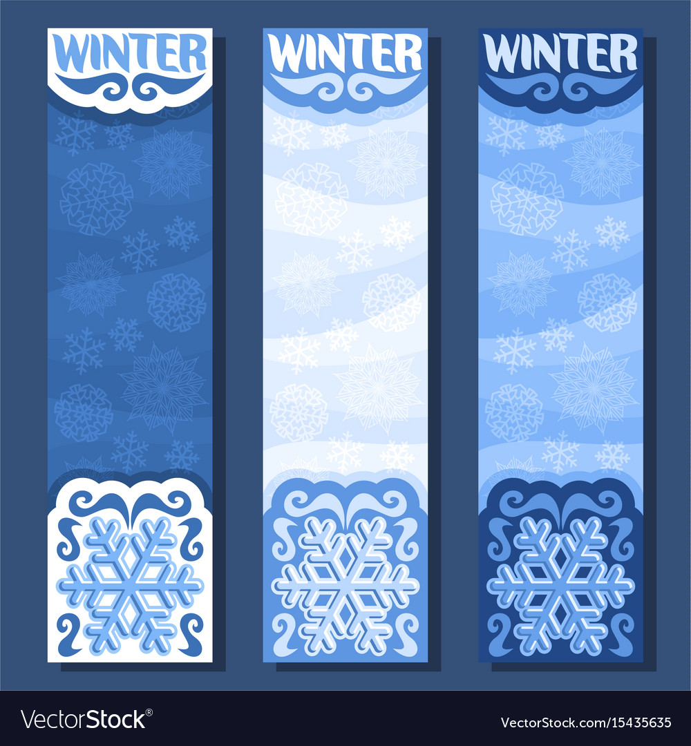 Banners for winter season