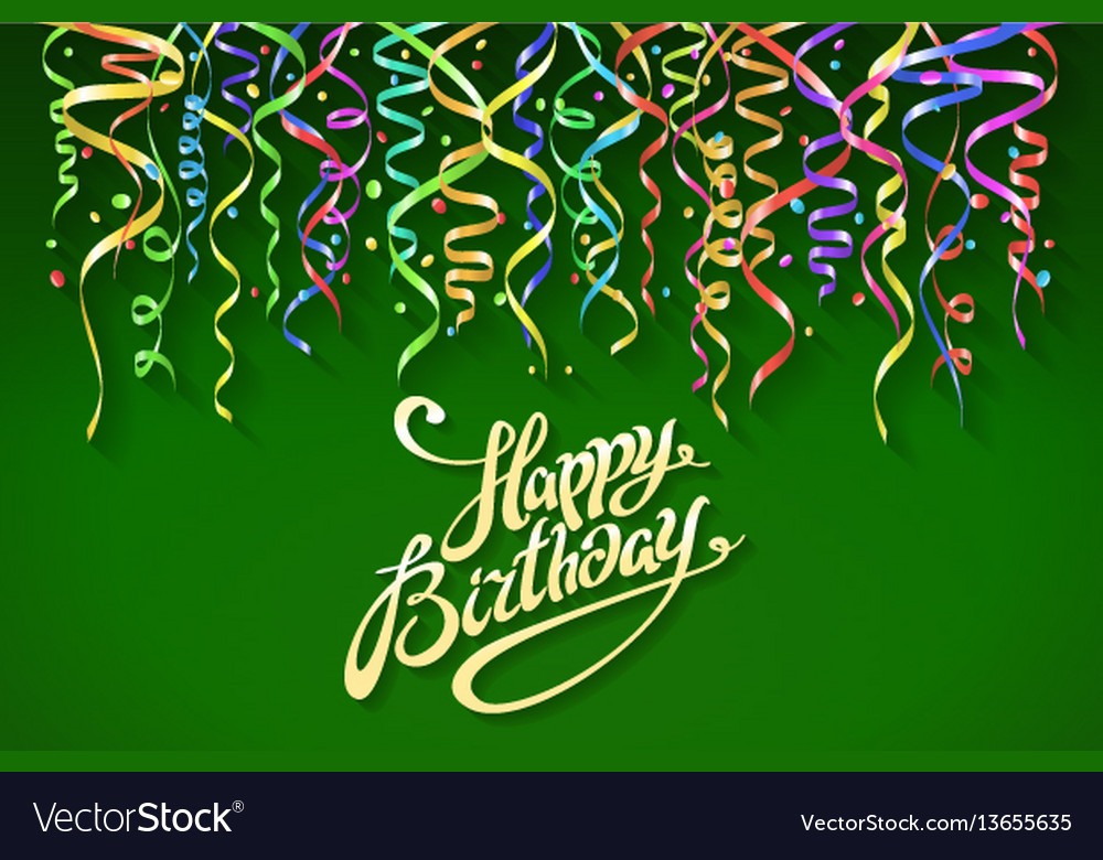Birthday greeting card with place for your text