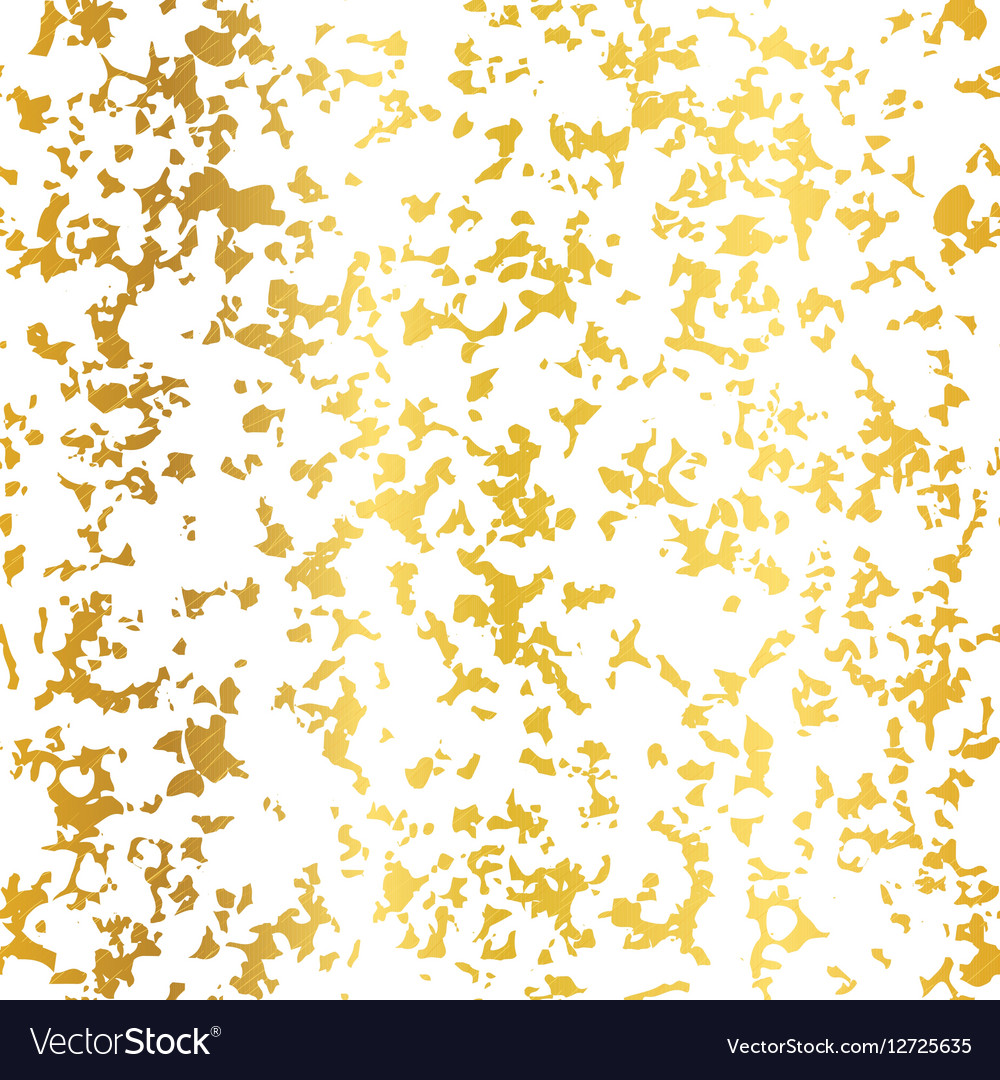 Golden On White Abstract Grunge Flake Foil vector image