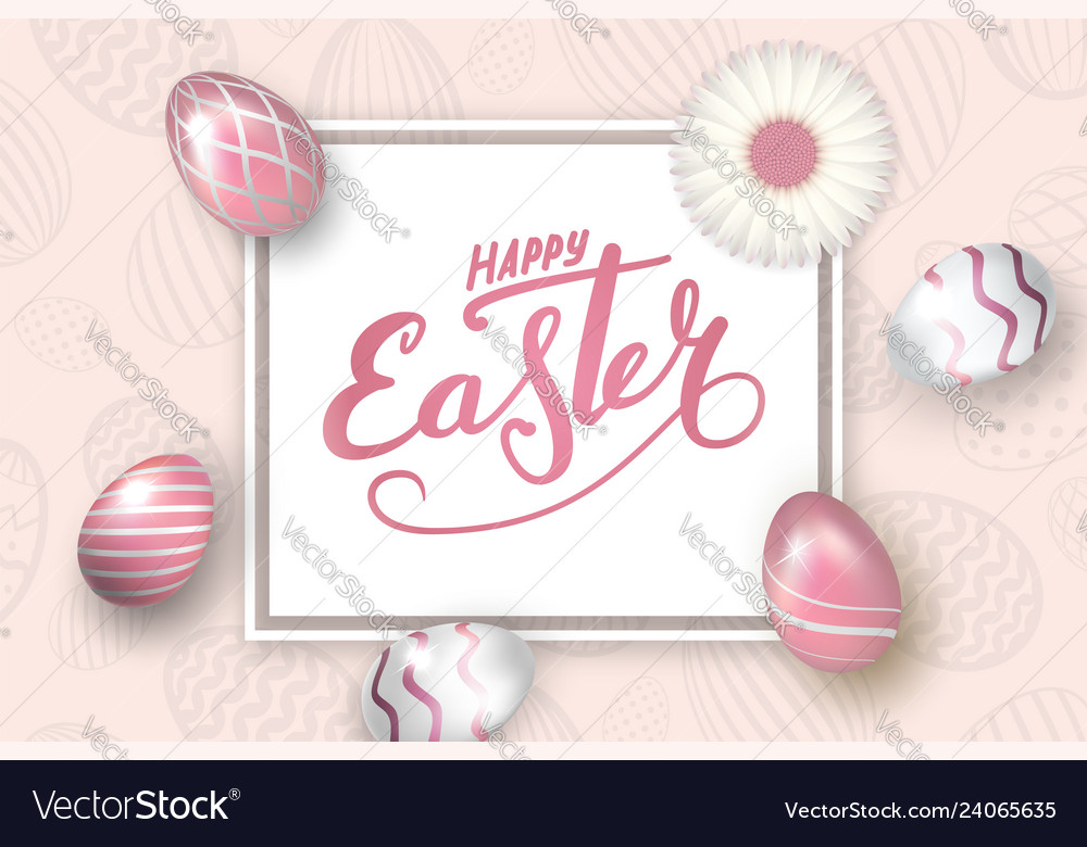 Happe easter background lettering eggs texture