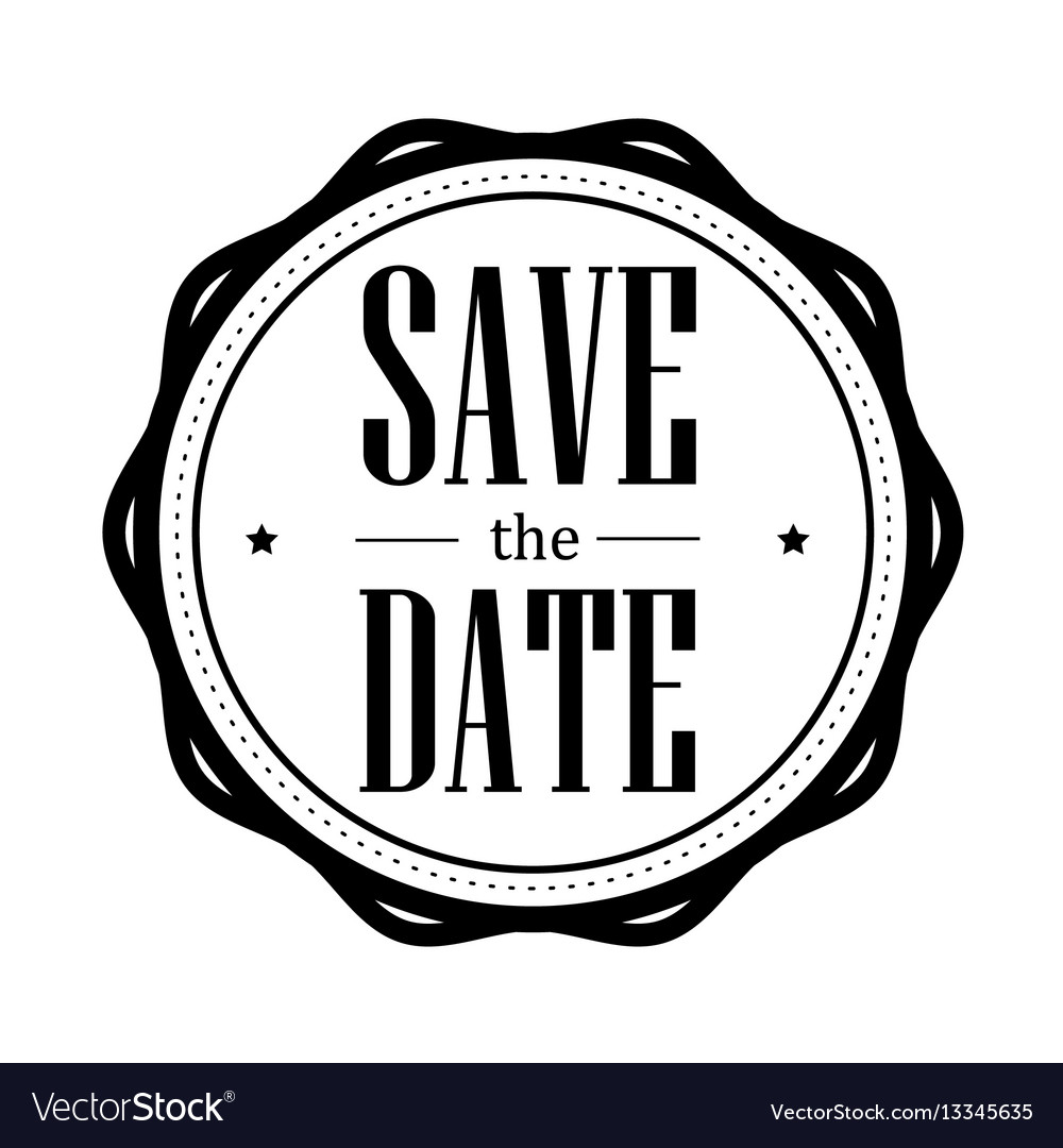 Save the date vintage stamp Royalty Free Vector Image
