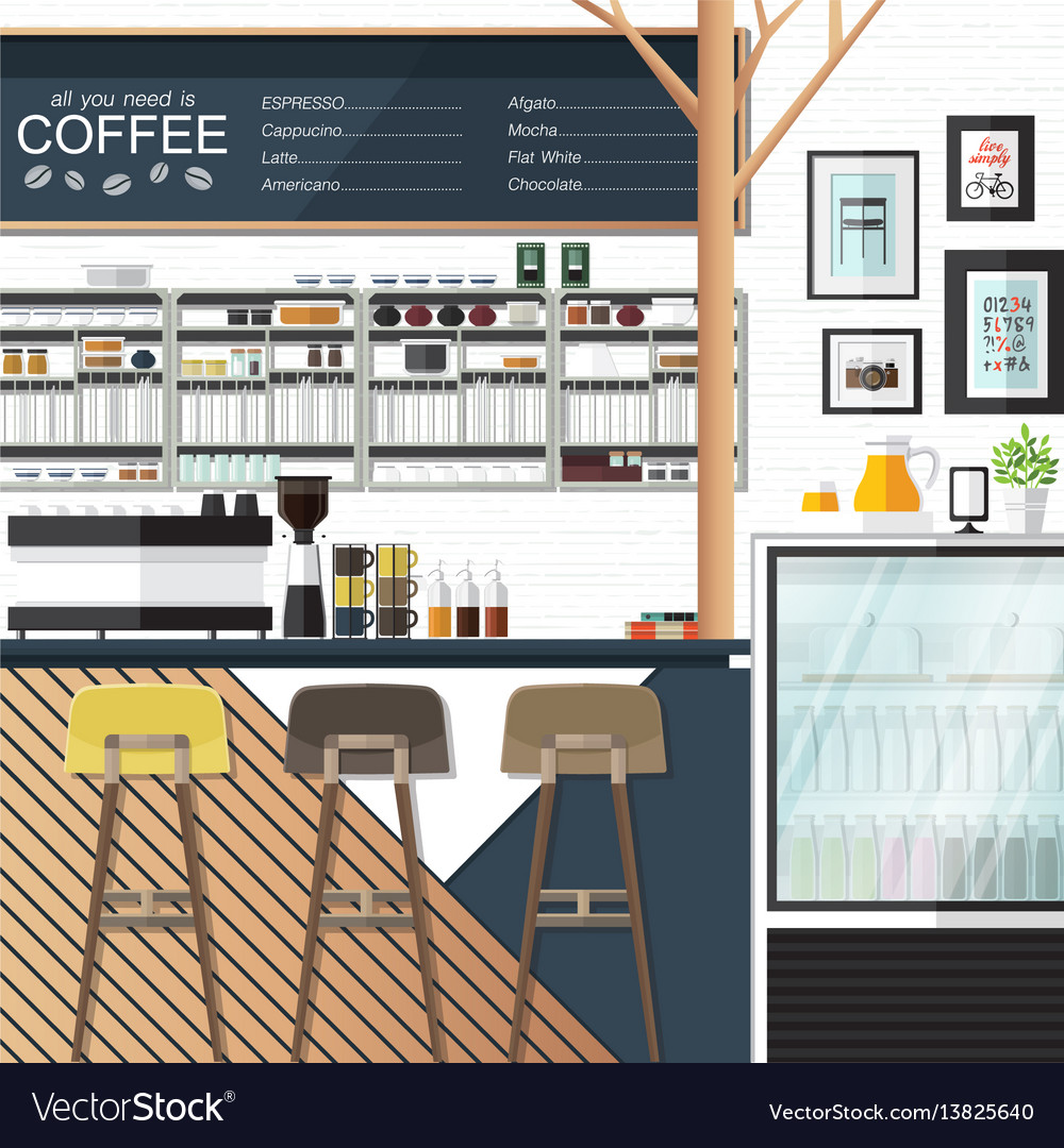 Coffee shop any one vector image