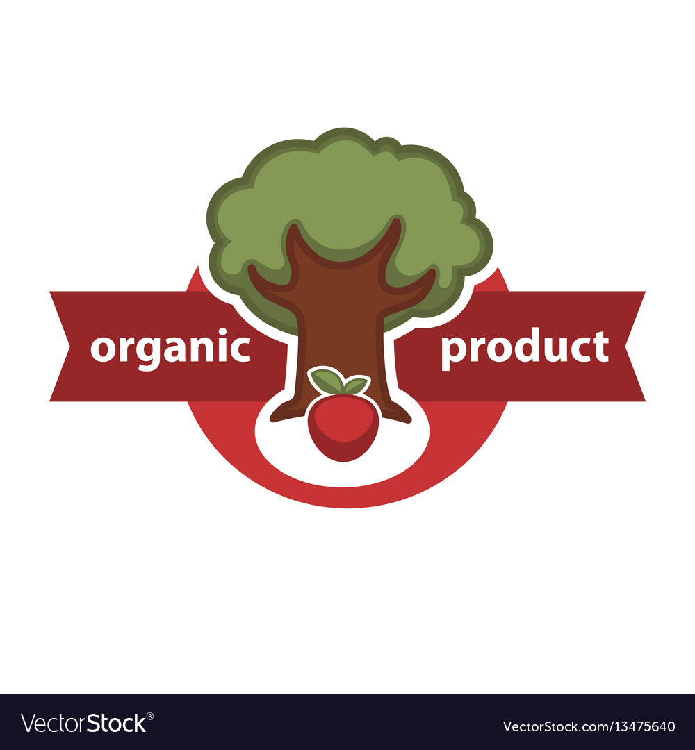 Farm fresh product agriculture vegetable or fruit vector image