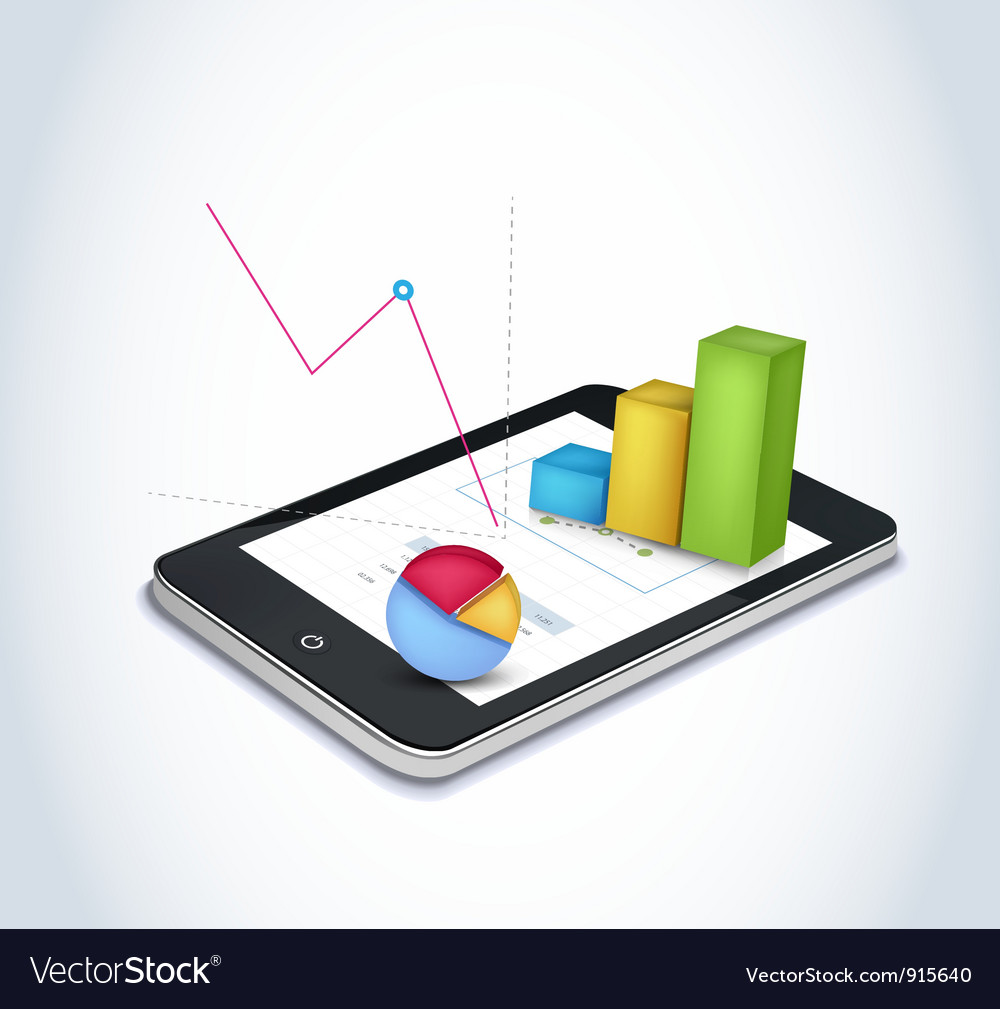 Financial elements on tablet