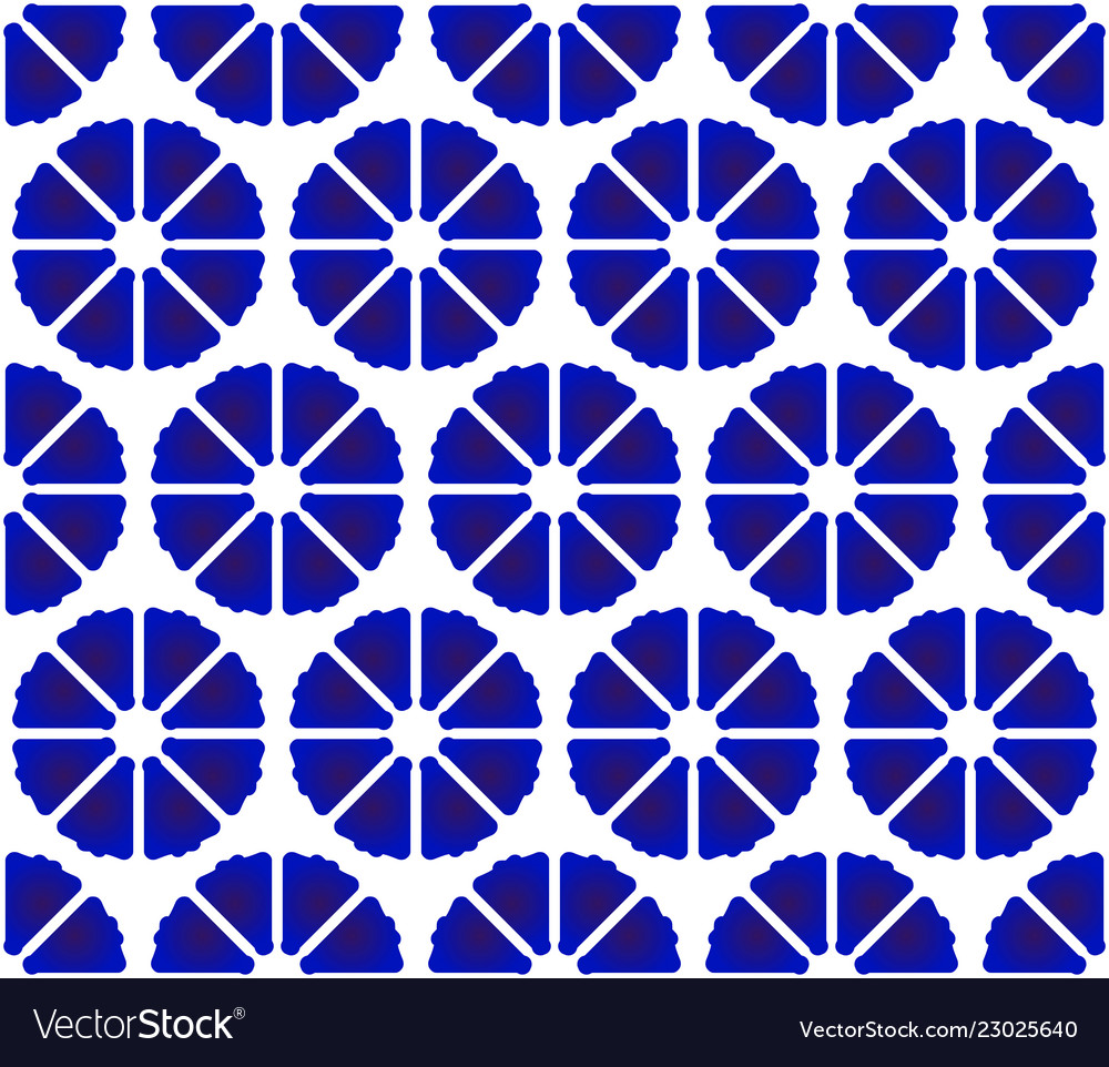 Flower pattern blue and white