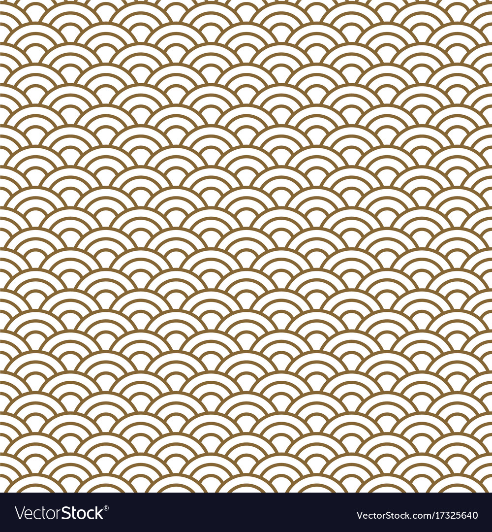 Japanese wave traditional seamless pattern