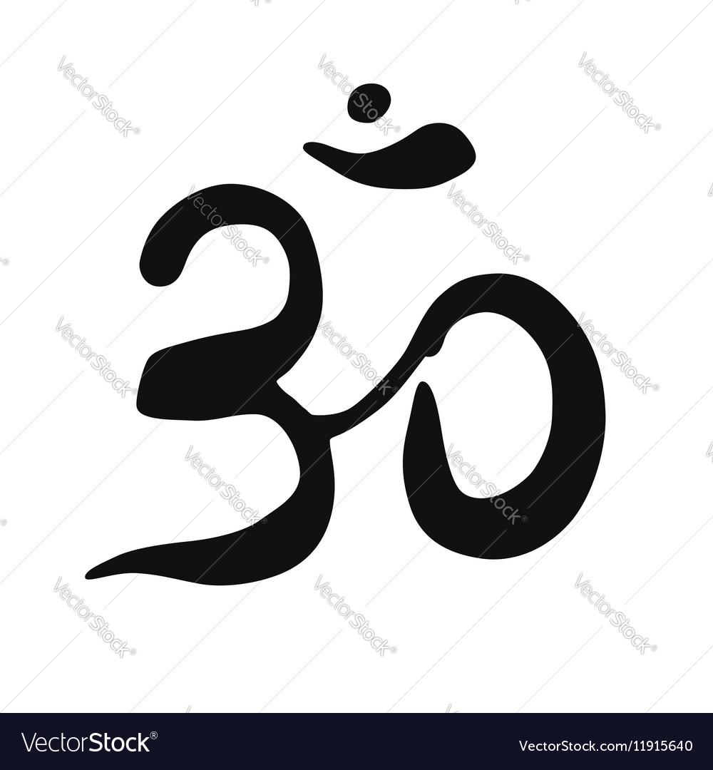 Ohm symbol on white background
