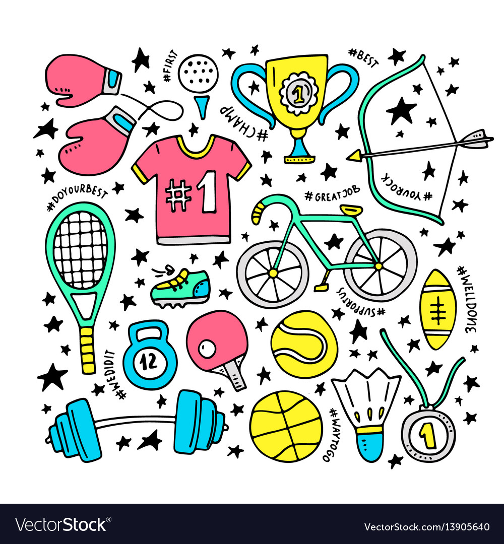 Sport clipart elements vector image