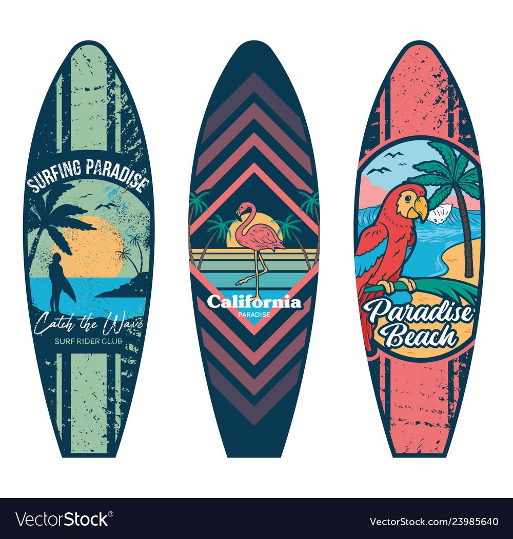 Surfboard set prints