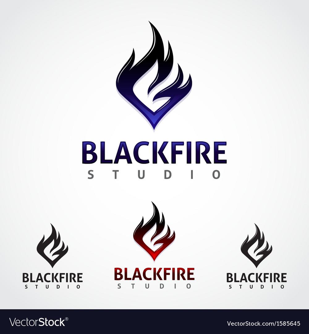 Black Fire Studio vector image