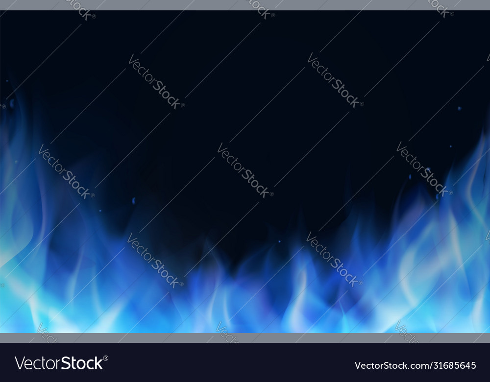 Blue fire flame realistic background