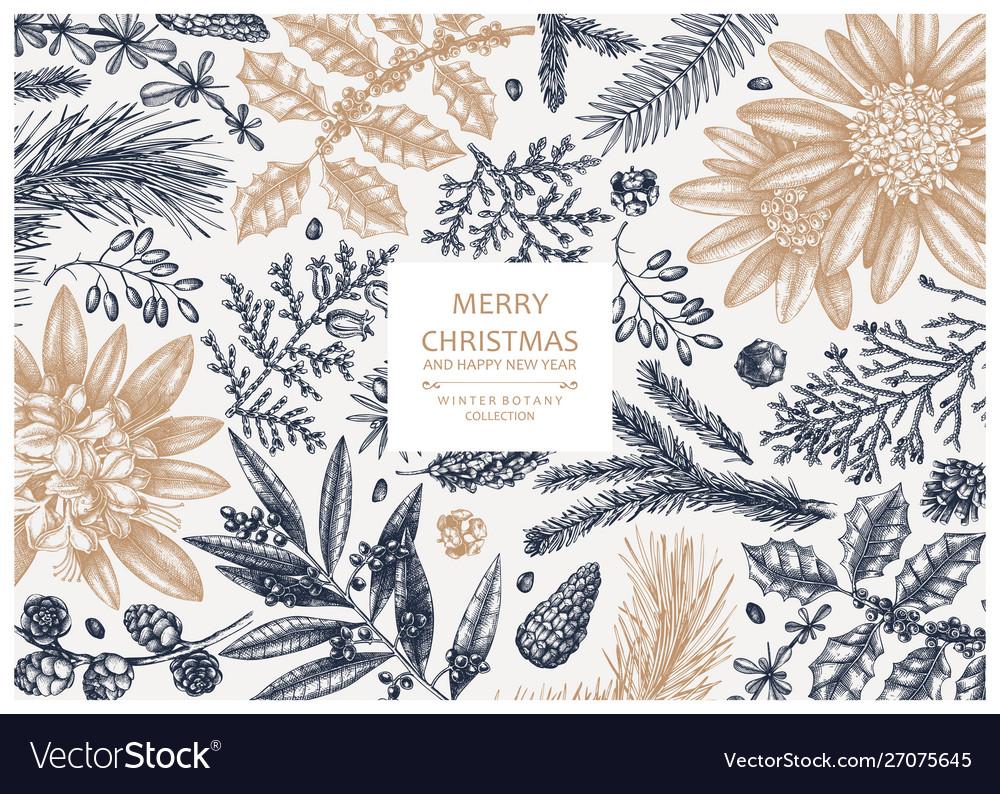 Christmas greeting card or invitation design