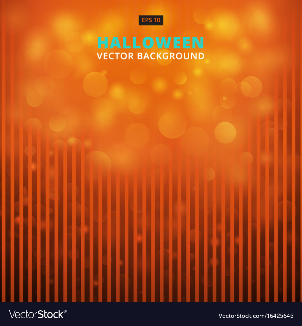 Halloween vertical lines striped with bokeh vector image