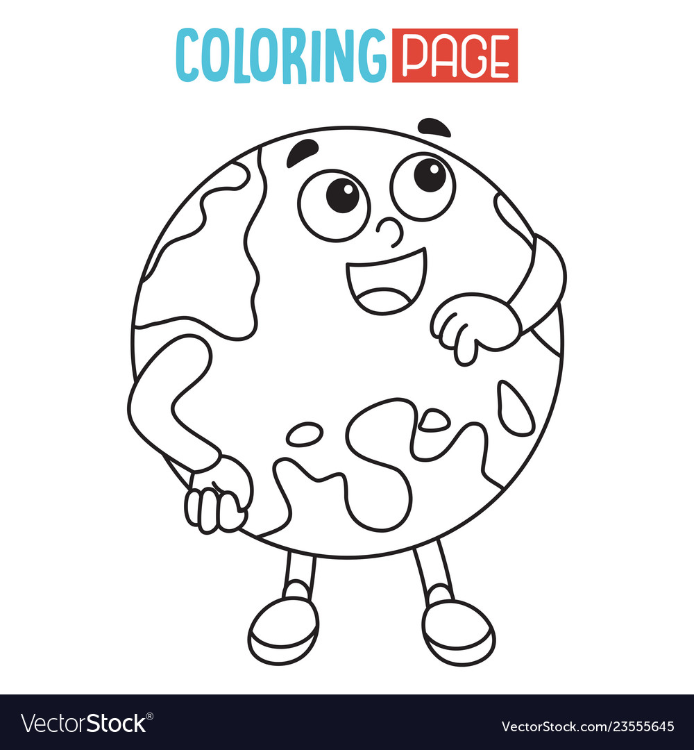 Of earth coloring page