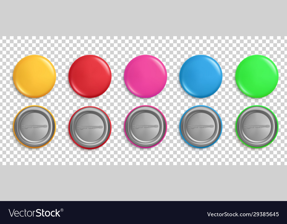 Pin buttons round badges circle glossy colorful