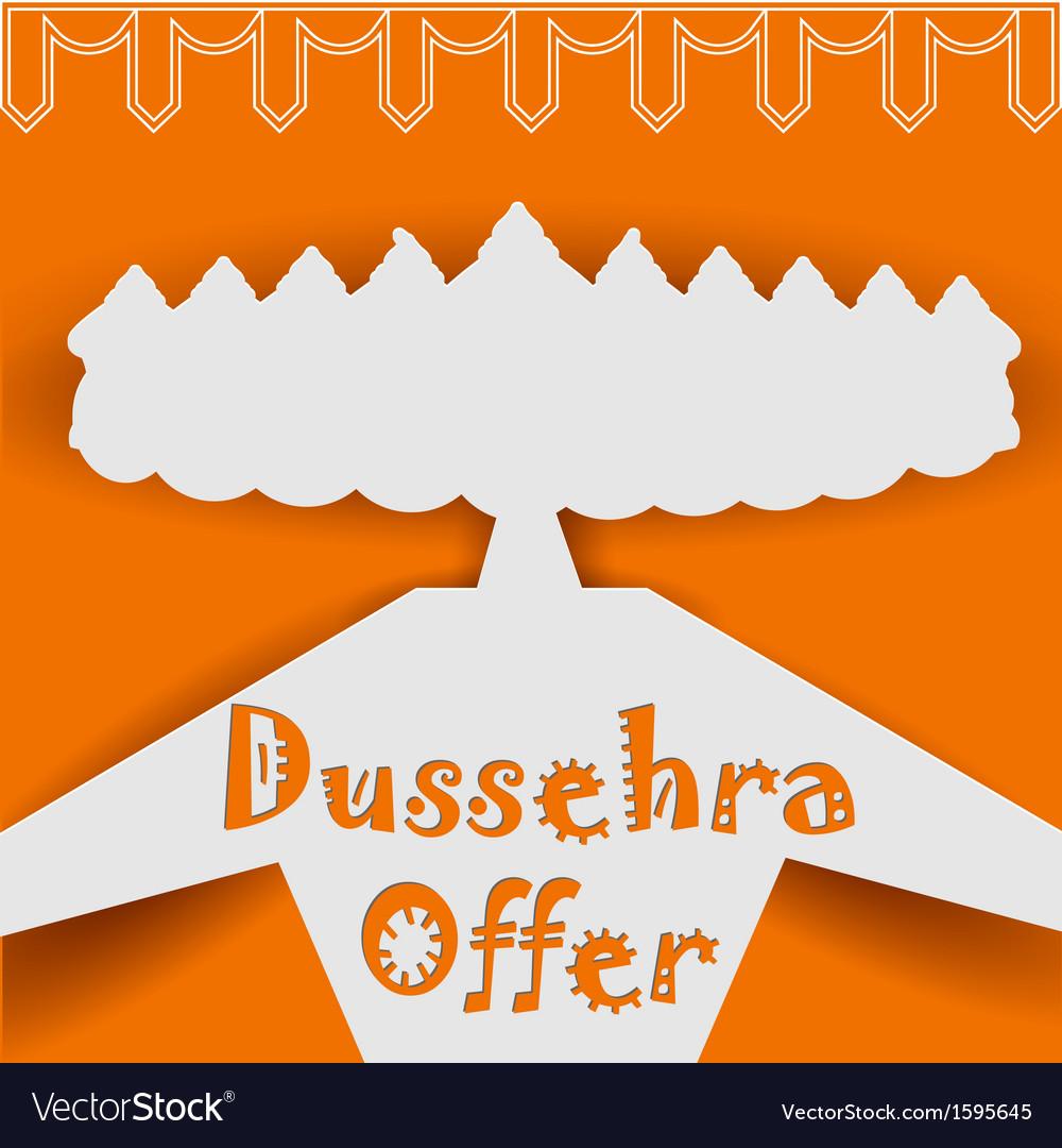 Ravana with ten heads for Dussehra vector image