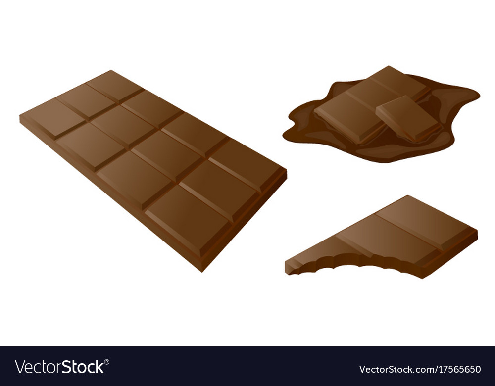Chocolate bar stick drawn in 3d art