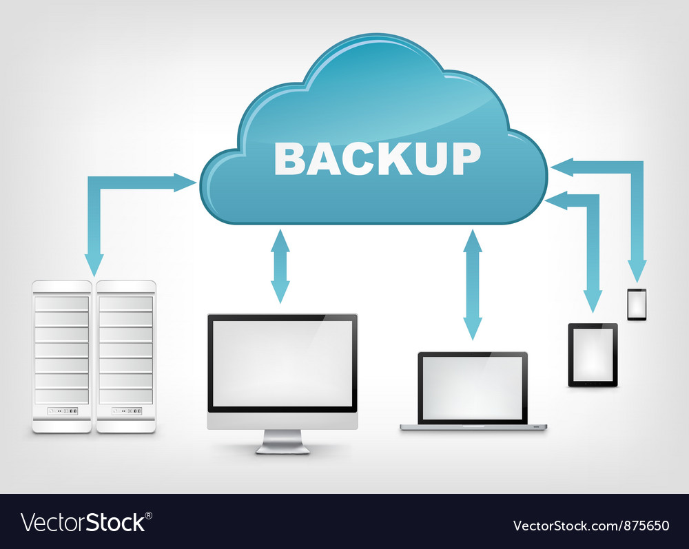 Cloud Service EPS 10 vector image
