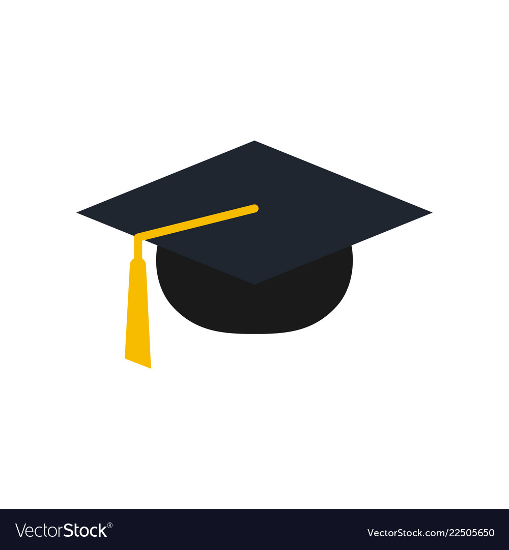 graduation cap logo icon design template vector image