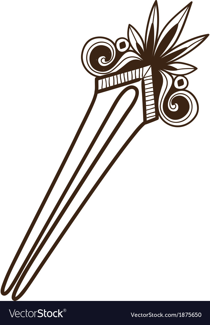 Hairpin with decoration vector image