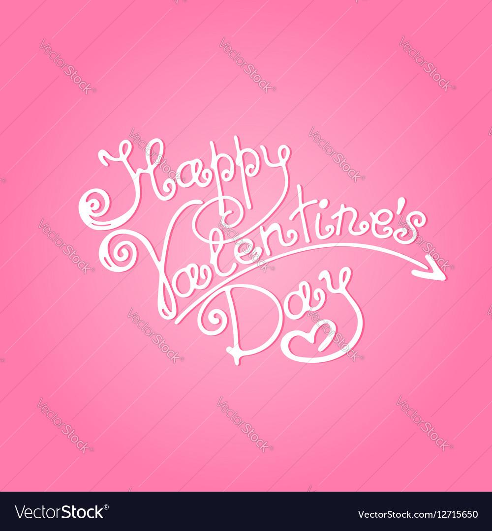 Happy Valentines Day inscription