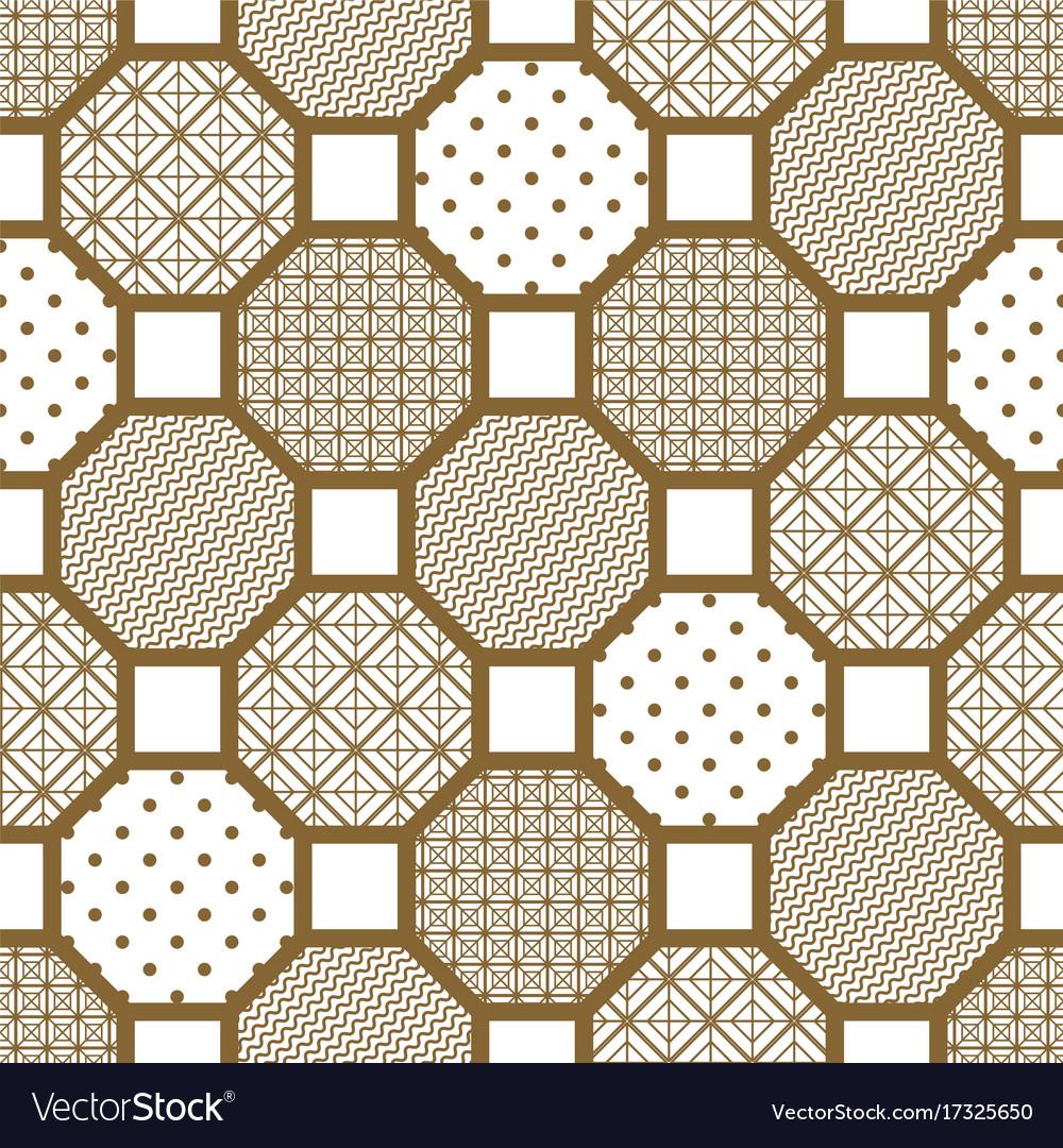 Japanese style tile seamless pattern