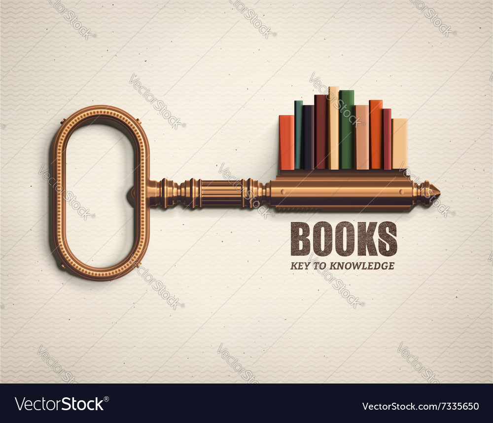 Key to Knowledge vector image