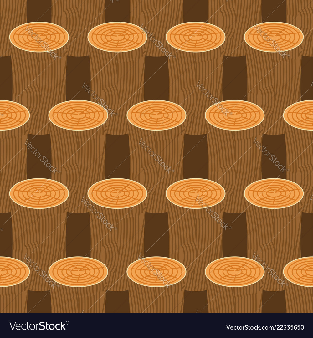 Log seamless pattern wooden billet background