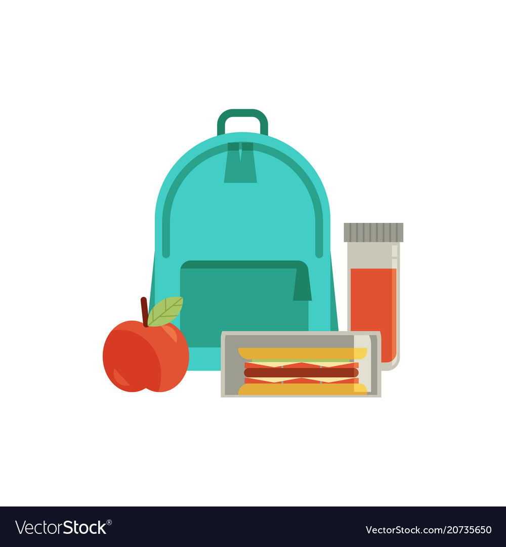 Lunchbox with snacks vegetables