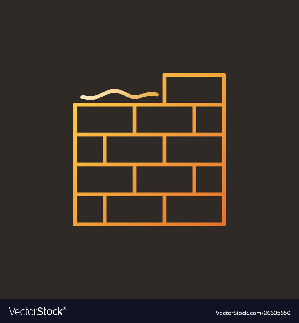 Masonry creative colorful icon in outline