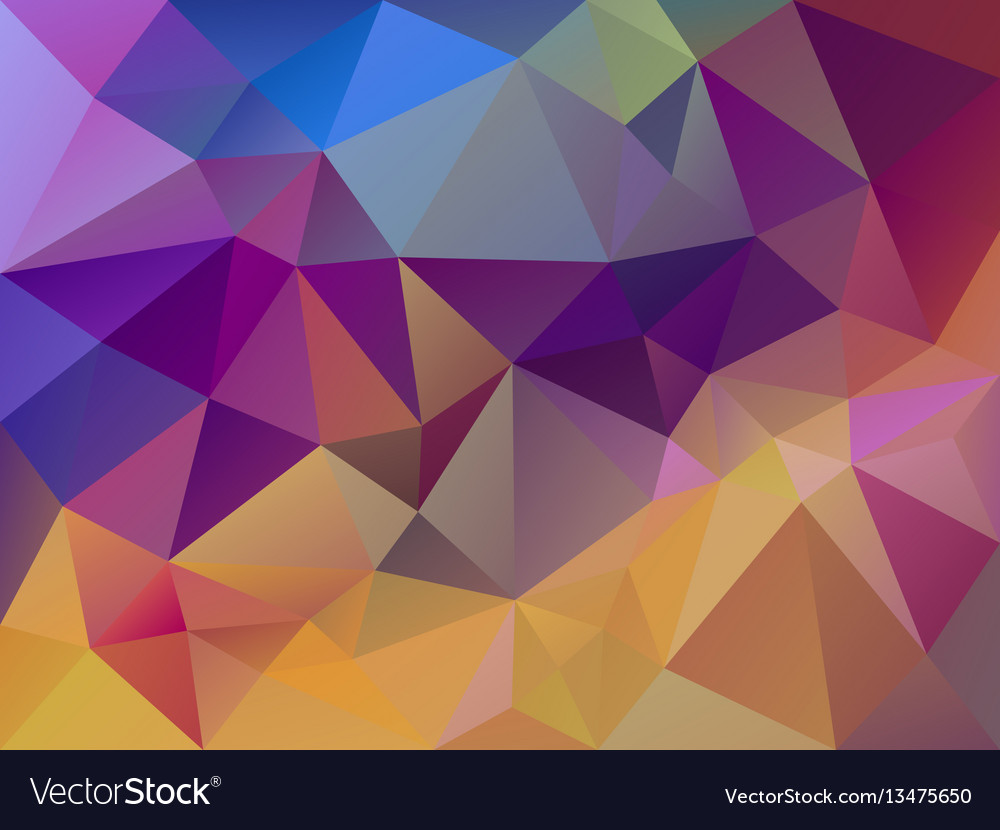Multi colored polygon background