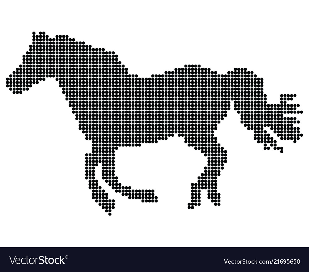 Point silhouette of horse