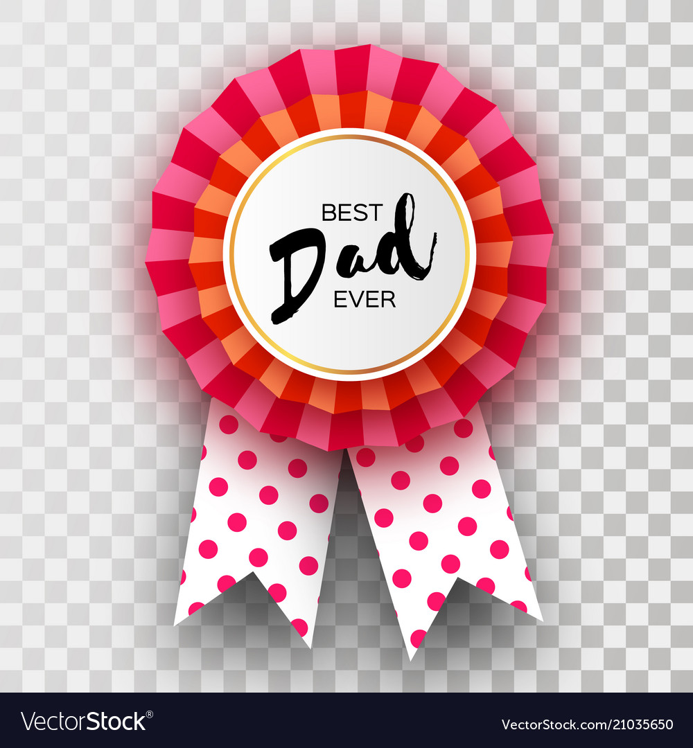 Red Happy Fathers Day Greetings Card Best Dad Vector Image