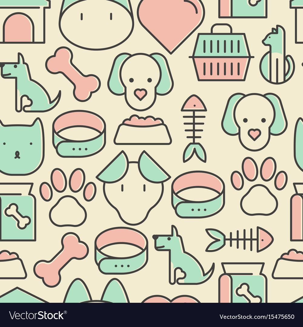 Seamless pattern and background with thin line vector image