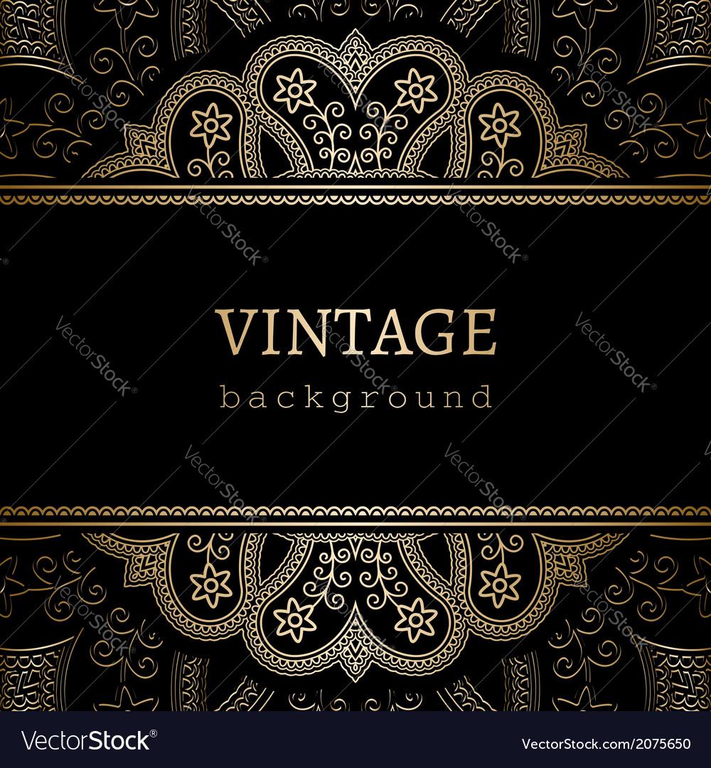 Vintage gold ornamental backround