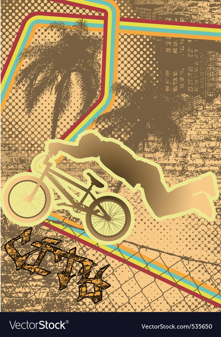 Vintage urban grunge bmx