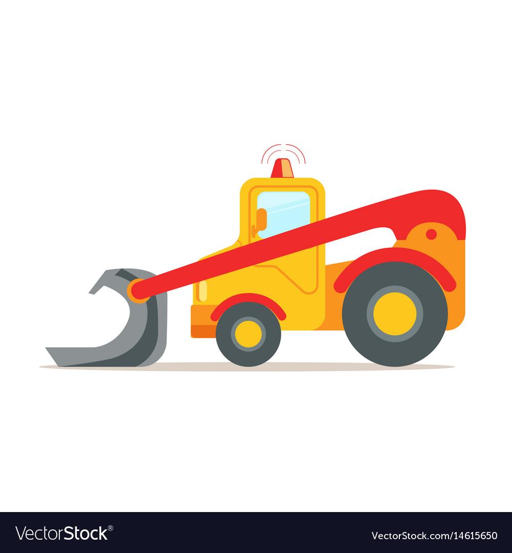 Yellow bulldozer construction machinery equipment