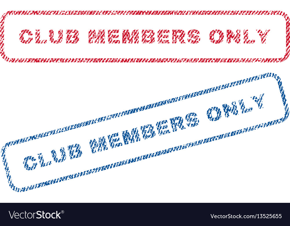 Club members only textile stamps
