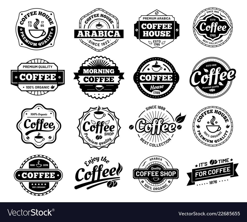 Coffee badges cafe logo stamp sticker restaurant