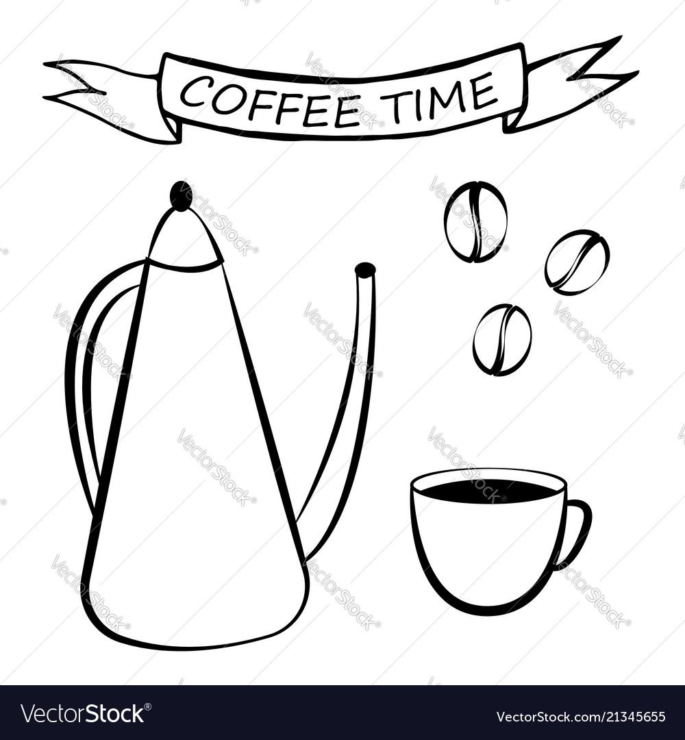 Coffee set for menu