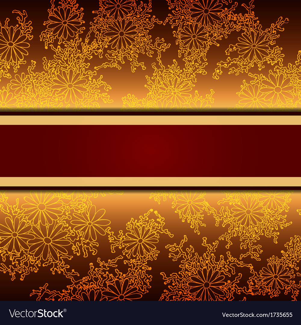 floral decorative background template frame design