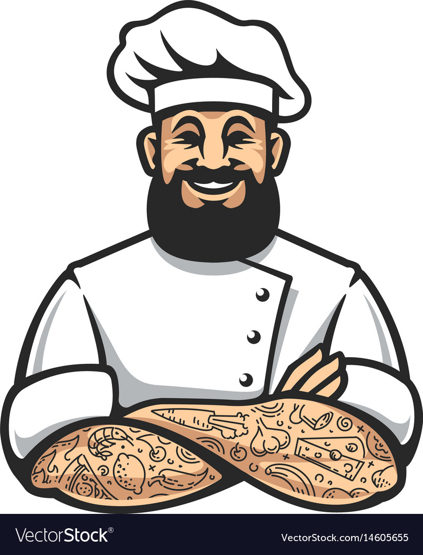 Hipster chef icon