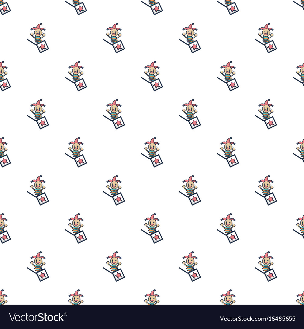 Jack in the box toy pattern seamless