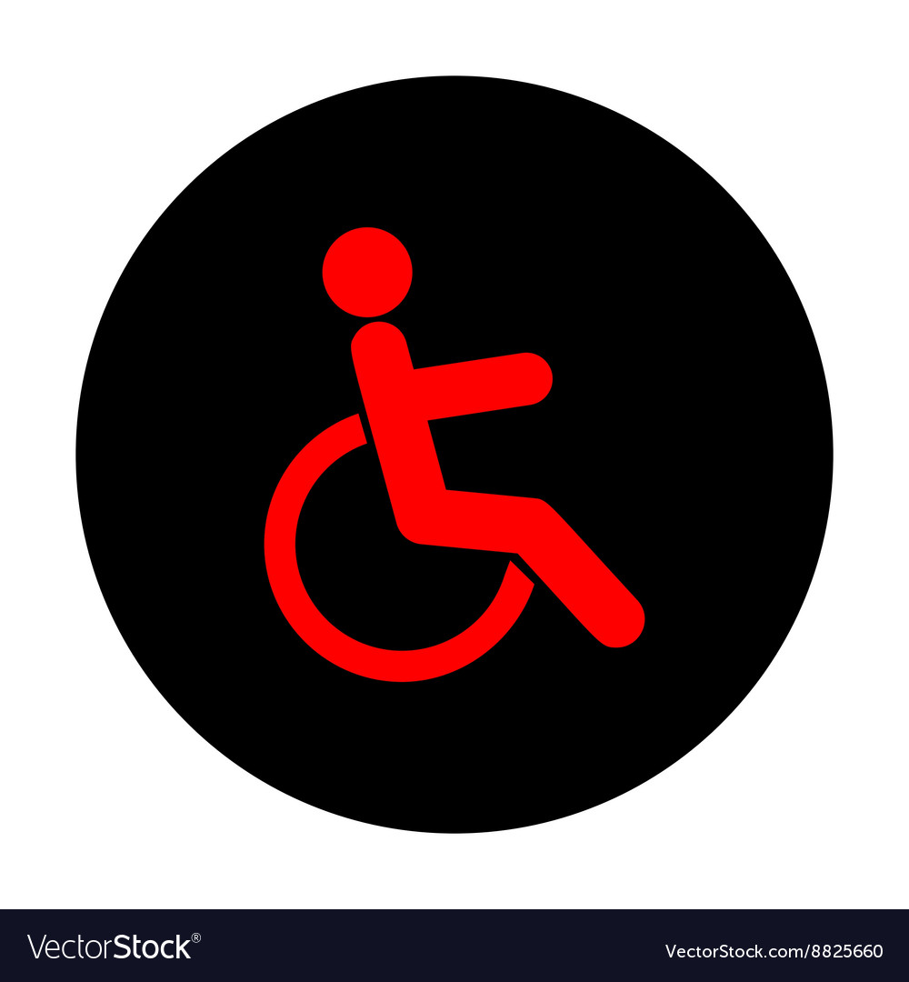 Disabled sign Red icon